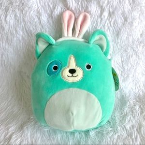 Squishmallow Easter Teal Dog Plush